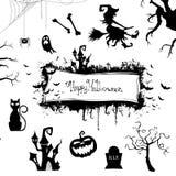 Elementos do projeto de Dia das Bruxas ilustração do vetor