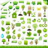 Elementos do projeto de Eco da coleção Fotografia de Stock Royalty Free