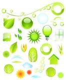 Elementos do projeto de Environmenral Ilustração do Vetor