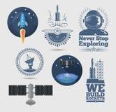 Elementos do projeto de espaço Imagens de Stock