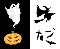 Elementos do projeto de Halloween Fotos de Stock Royalty Free