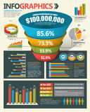 Elementos do projeto de Infographic Fotos de Stock