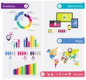Elementos do projeto de Infographics, molde infographic Foto de Stock