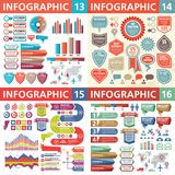 Elementos do projeto de negócio de Infographic - ilustração do vetor Coleção do molde de Infograph Grupo criativo do gráfico ilustração stock
