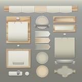 Elementos do projeto de Web Foto de Stock Royalty Free