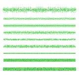 Elementos do projeto - divisores verdes da página do mosaico Ilustração Stock