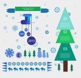 Elementos do projeto do ano novo do vetor Imagem de Stock Royalty Free