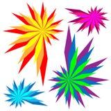 Elementos do projeto do arco-íris Foto de Stock