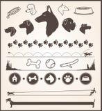 Elementos do projeto do cão Fotografia de Stock Royalty Free