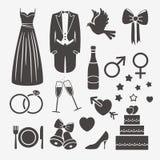 Elementos do projeto do casamento Fotografia de Stock Royalty Free