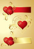 Elementos do projeto do coração Fotos de Stock Royalty Free