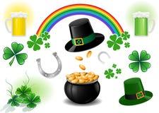 Elementos do projeto do dia do St. Patrick Fotos de Stock