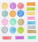 Elementos do projeto do lápis da cor Foto de Stock Royalty Free