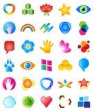 Elementos do projeto do logotipo ilustração stock