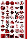 Elementos do projeto do logotipo do vetor Fotografia de Stock