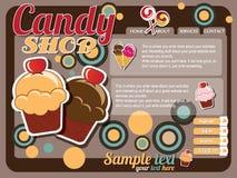 Elementos do projeto do molde do Web site ilustração stock