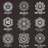 Elementos do projeto do monograma, molde gracioso Linha caligráfica projeto do logotipo da arte Fotografia de Stock Royalty Free