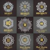 Elementos do projeto do monograma, molde gracioso Linha caligráfica projeto do logotipo da arte Imagem de Stock