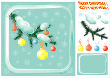 Elementos do projeto do Natal. ilustração stock
