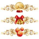 Elementos do projeto do Natal ilustração stock