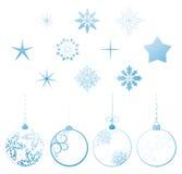 Elementos do projeto do Natal da coleção do vetor Imagem de Stock Royalty Free