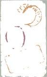 elementos do projeto do porte postal do grunge do vetor ilustração stock