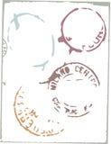 Elementos do projeto do porte postal do vetor ilustração stock