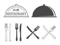 Elementos do projeto do restaurante ilustração do vetor