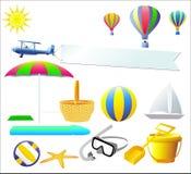 Elementos do projeto do verão - vetor Imagens de Stock
