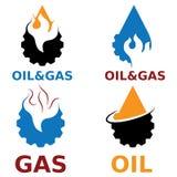 elementos do projeto do vetor da indústria do gás Fotos de Stock Royalty Free