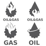 elementos do projeto do vetor da indústria do gás Foto de Stock