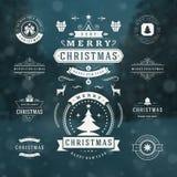 Elementos do projeto do vetor das decorações do Natal Imagens de Stock Royalty Free