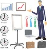 Elementos do projeto do vetor do negócio ilustração do vetor