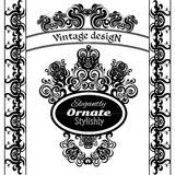 Elementos do projeto do vintage em um fundo branco Foto de Stock Royalty Free