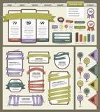 Elementos do projeto do Web site Imagens de Stock