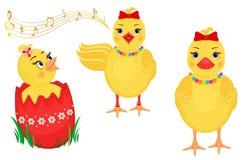 Elementos do projeto dos pintainhos de Easter Foto de Stock Royalty Free