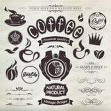 Elementos do projeto e decoração caligráficos da página Foto de Stock