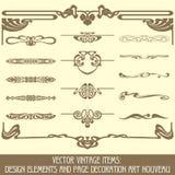 Elementos do projeto e página dezembro Imagem de Stock Royalty Free