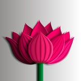 Elementos do projeto - flor de lótus cor-de-rosa 3D Foto de Stock Royalty Free