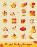 Elementos do projeto gráfico Fotografia de Stock Royalty Free