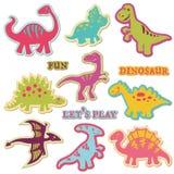 Elementos do projeto - jogo do dinossauro do ute do ¡ de Ð ilustração stock