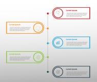 Elementos do projeto moderno para o infographics multicolorido do negócio Vec ilustração stock