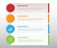 Elementos do projeto moderno para o infographics multicolorido do negócio Vec ilustração royalty free