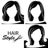 Elementos do projeto para a barbearia. ilustração stock