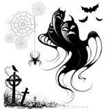 Elementos do projeto para Halloween Imagens de Stock Royalty Free