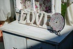 Elementos do projeto para o casamento Foto de Stock Royalty Free