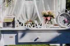 Elementos do projeto para o casamento Imagem de Stock