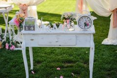 Elementos do projeto para o casamento Fotos de Stock