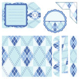 Elementos do projeto para o scrapbook - azul Imagem de Stock