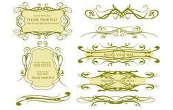 Elementos do projeto para o Web page Imagem de Stock